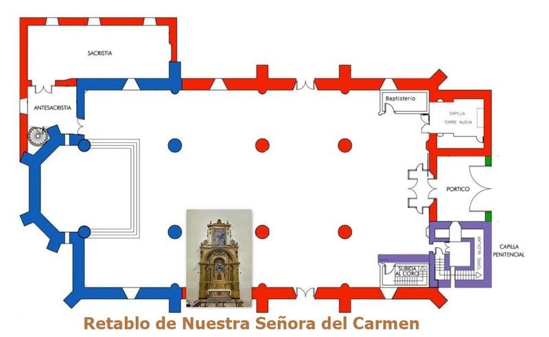 Retablo de Nuestra Señora del Carmen de la iglesia de Santa María Magdalena
