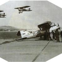 Aviones Breguets despegando desde la Base Aérea de Getafe