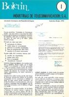 Boletín de Intelsa. Núm. 01 - Septiembre/Octubre-1972