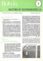 Boletín de Intelsa. Núm. 04 - Marzo/Mayo-1973