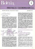 Boletín de Intelsa. Núm. 05 - Junio/Agosto-1973