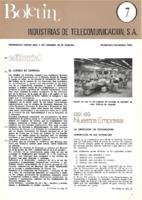 Boletín de Intelsa. Núm. 07 - Noviembre/Diciembre-1973