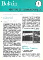 Boletín de Intelsa. Núm. 08 - Enero/Febrero-1974
