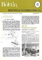 Boletín de Intelsa. Núm. 11 - Julio/Agosto-1974