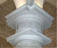 Capitel de columna de la nave central de Santa María Magdalena
