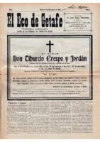 El Eco de Getafe. Núm. 3 - 15-diciembre-1918