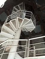 Escalera de caracol de acceso al campanario de la torre mudéjar de la catedral de Santa María Magdalena