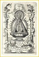 Estampa de la Virgen de los Ángeles