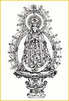 Estampa de la Virgen de los Ángeles, Siglo XIX