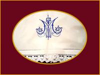 Mantel con Anagrama Azul