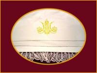 Mantel con Anagrama Dorado