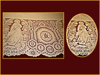Mantel con Inmaculada y Anagrama