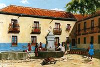 PlazaCarretas,Fuente.1949.jpg